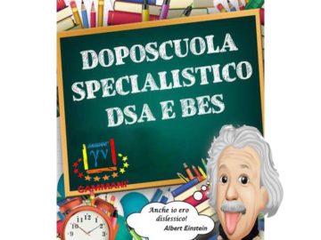 DOPOSCUOLA SPECIALISTICO PER DSA  Il Doposcuola specialistico per ragazzi DSA si pone l'obiettivo di supportare i ragazzi in un percorso verso l'autonomia nello studio e nel l'acquisizione di competenze, strategie, consapevolezza.